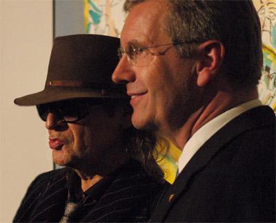 Udo Lindenberg und Bundespräsident Christian Wulff in Neuhardenberg Foto: Martin Stefke